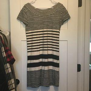 Anthropologie Mauve Stripe Dress, Size S